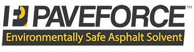 PaveForce Logo - Environmentally Safe Asphalt Solvent