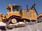 Caterpillar bulldozer on construction site