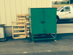 green wheeler CAT drop box