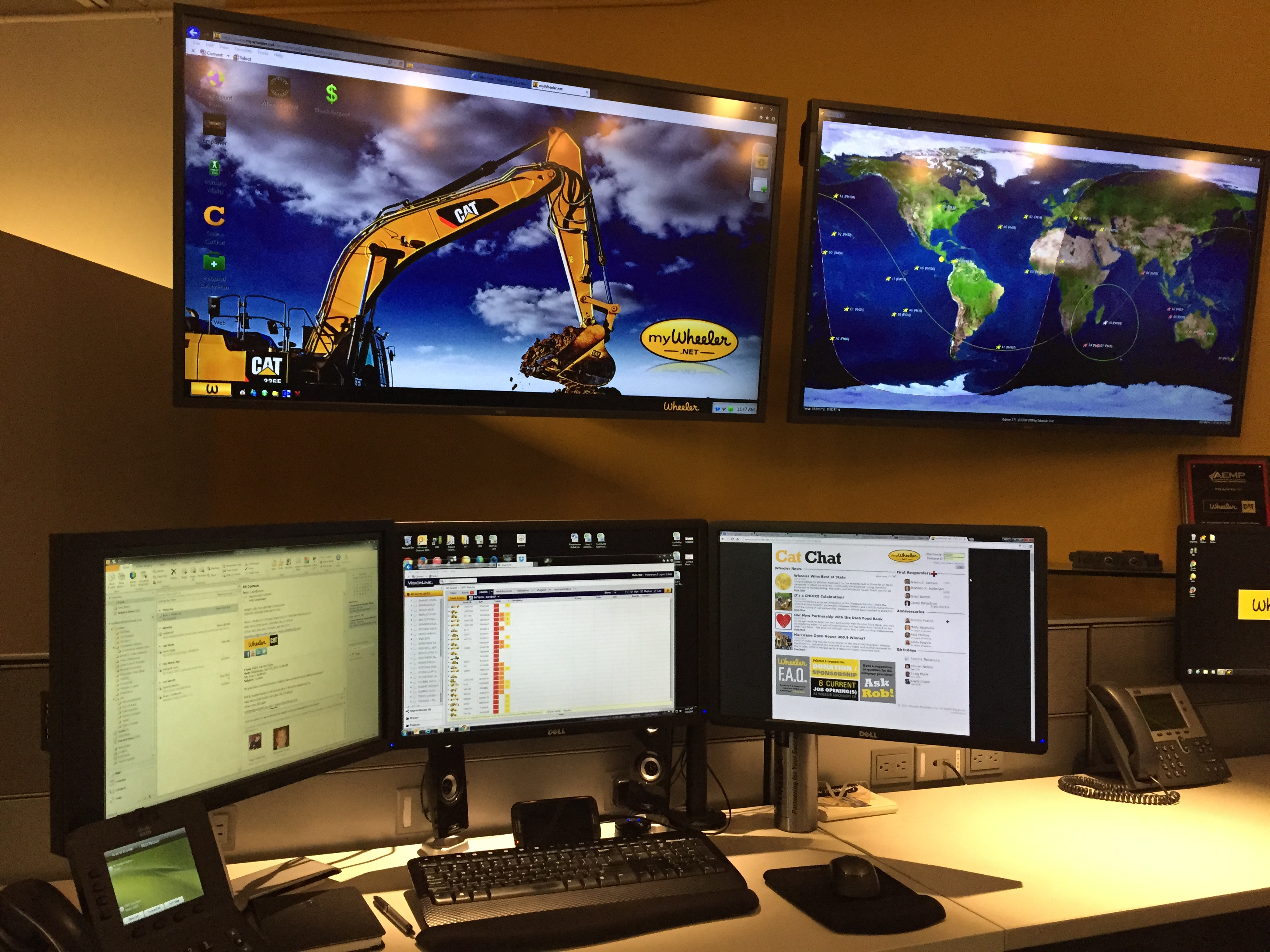 Condition Monitoring Center at Wheeler Machinery