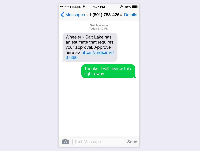Screenshot of MDS Text Conversation