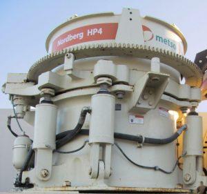 Metso HP 4 trailer mounted crusher