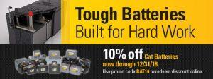 10% OFF Cat Batteries