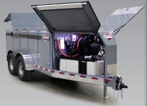 Wheeler CAT Thunder Creek MTT Series fuel and service trailer open