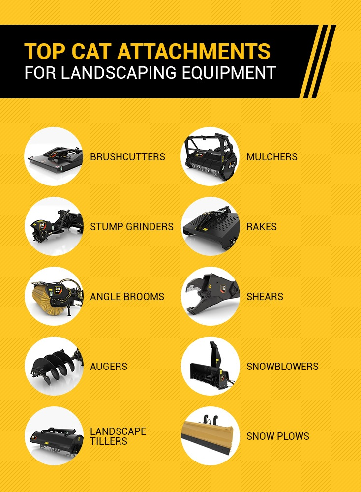 Top Cat Attachments for Landscaping Equipment