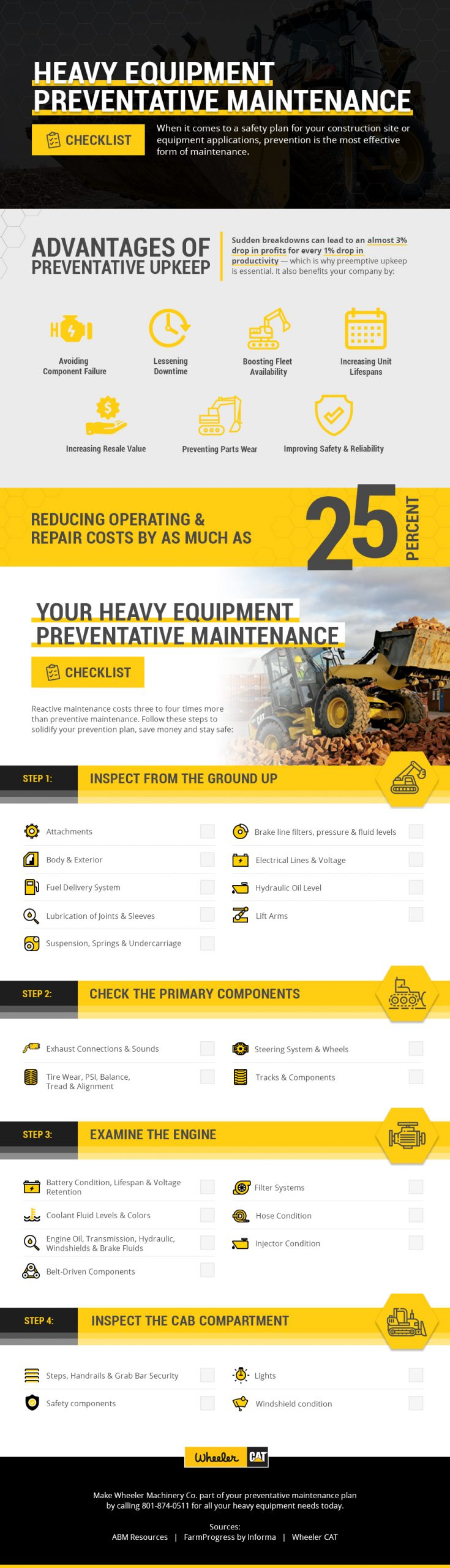Heavy Equipment Preventative Maintenance Checklist